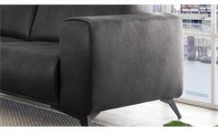2,5-Sitzer Pueblo Sofa Couch Polstersofa Sitzmöbel in Stoff anthrazit 185 cm