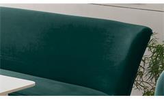 Polsterbank Rivia 2-Sitzer Bank Diningbank Stoff samtweich grün massiv schwarz