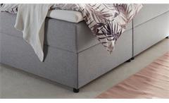 Boxbett Bett Doppelbett Granada 2 Stoff grau mit Bettkasten Topper 180x200 cm