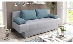 Schlafsofa SUSANNE Sofa hell blau mit Bettkasten 196x92