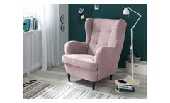 Sessel Einzelsessel Fernsehsessel Polstermöbel Omado in flamingo rosa 70x101 cm