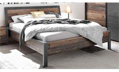 Bettgestell Bett Doppelbett Old style dunkel Betonoxid Industrial 180x200 cm Michel