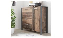 Kommode Schlafzimmer Schrank 1-türig Old Style dunkel Betonoxid Michel