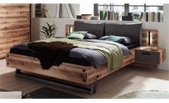 Bettanlage Doppelbett Alpine Lodge Betonoxid Schlafzimmer Bett 2 Nachtkonsolen Dover