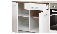 Küchenblock Küche Küchenschrank weiß Sonoma Eiche Küchenzeile Wow