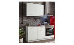 Küchenzeile WOW 1 Küchenblock weiß matt Sonoma Eiche
