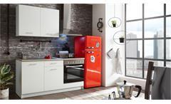 Küchenzeile WOW 1 weiß matt Sonoma Eiche mit E-Geräten