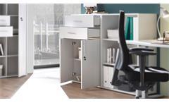 Schrank Büroregal lichtgrau Kommode Schrank abschließbar Büroschrank Pronto