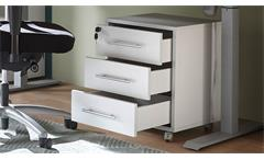 Rollcontainer lichtgrau Schrank abschließbar Büroschrank 3 Schubkästen Pronto