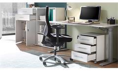 Büro-Set Büromöbel lichtgrau 4-teilig Schreibtisch Schrank Regal Rollcontainer Pronto
