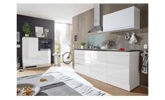 Küchenblock weiß Hochglanz Jazz 4 anthrazit Küche Einbauküche Küchenzeile matt