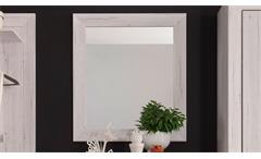 Spiegel Wandspiegel Garderobenspiegel Jambo Weißeiche Flur Hängespiegel 71 cm