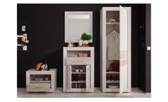 Garderobe Set Garderobenset Jambo Weißeiche Sandeiche Spiegel Flurmöbel 220 cm