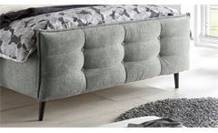 Polsterbett Bett Bettgestell Einzelbett Mario B in Stoff grau 140x200 cm