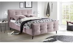 Polsterbett MARIO B Bett Bettgestell Stoff rosa 140x200 cm