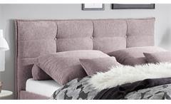Polsterbett Bett Bettgestell Einzelbett Mario B in Stoff rosa 140x200 cm