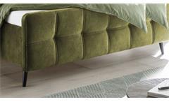 Polsterbett Bett Bettgestell Doppelbett Mario C in Stoff olive 180x200 cm