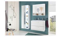 Badezimmer Komplettset 3-tlg Badmöbel Best weiß Hochglanz Beleuchtung und Becken