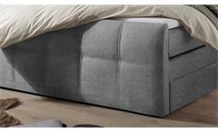 Boxspringbett Bett Doppelbett Alberta Stoff dunkelgrau mit Bettkasten 180x200 cm