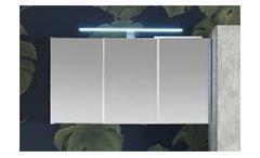 Spiegelschrank PORTLAND Hängeschrank weiß mit LED