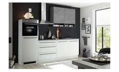 Küchenzeile BANJO Küchenblock hellgrau und Chromix dunkel