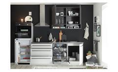 Küchenzeile Küchenblock Einbauküche Küche Banjo hellgrau Chromix dunkel 260 cm