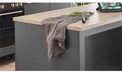 Kücheninsel Küchenschrank Insel Küche Bilberry anthrazit und Eiche Sonoma 138 cm