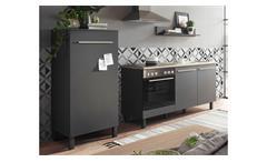Küche BILBERRY Küchenzeile anthrazit Eiche Sonoma 4-teilig