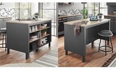 Inselküche Küchenzeile Küchenblock Küche Bilberry anthrazit Eiche Sonoma 5-tlg