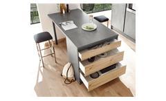 Kücheninsel Küchenschrank Insel Küche Tann Chromix anthrazit Artisan Eiche 180
