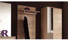 Garderobe Flurmöbel Dielenmöbel Linus Komplettset Eiche San Remo hell 5-teilig
