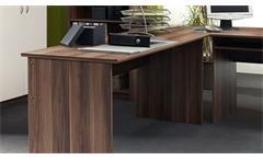 Büro Arbeitszimmer Home Office Komplettset Office Compact Walnuss weiß 5-teilig