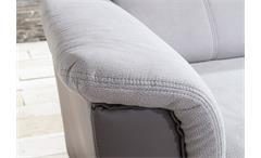 Ecksofa Pisa Eckgarnitur L-Sofa hellgrau grau Federkern Bettfunktion Kopfstützen