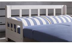 Schlafsofa Campus Sofa Funktionssofa Stoff blau weiß inkl. Liegefunktion 154 cm