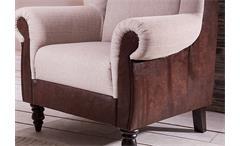 Küchensessel Trina 2 Speisesessel Sessel in braun antik und cappuccino 93 cm