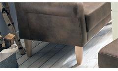 2er Küchensofa Scalea 2-Sitzer Sofa Stoff hellbraun Federkern mit Kissen 147 cm