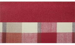 2er Küchensofa Scalea 2-Sitzer Sofa Stoff rot kariert Federkern inkl. Kissen