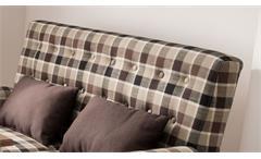 2er Küchensofa Scalea 2-Sitzer Sofa Stoff braun kariert Federkern inkl. Kissen