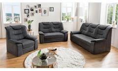 2-Sitzer Grande 2er Sofa Couch in Stoff dunkelgrau grau inkl. Federkern 158 cm