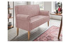 Küchenbank 2-Sitzer Sofa Speisesofa mit Federkern 142 cm flamingo rosa Antoni