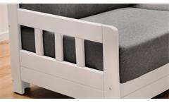 Schlafsofa Kampus Funktionssofa 2-Sitzer Couch in dunkelgrau ausklappbar 154 cm