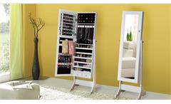 Standspiegel mit Schmuckkasten Schmuckschrank Spiegelschrank weiß