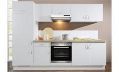 AVANT Küchenzeile I Weiß/Nussbaum/Links - inkl. E-Geräte