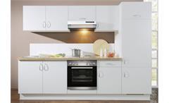 AVANT Küchenzeile I Weiß/Nussbaum/Rechts - inkl. E-Geräte