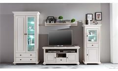 Lowboard 1 Leona TV-Board TV-Schrank in Astfichte massiv natur weiß lasiert