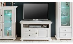 Lowboard 2 Leona TV-Board TV-Schrank in Astfichte massiv natur weiß lasiert