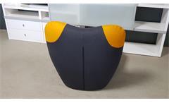 Sessel Pandabär ROLF BENZ freistil 171 schwarzgrau Ecken gelb