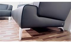 Rolf Benz Sofa SOB 2300 Echtleder schwarz 3-sitzer Sofabank 195 cm breit