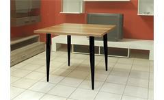 Esstisch Freistil 190 von Rolf Benz Tisch in Nussbaum mit Füßen in Schwarz 90 cm