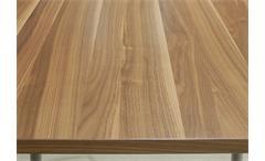 Esstisch Freistil 190 von Rolf Benz Tisch in Nussbaum mit Füßen in Alu 92 cm